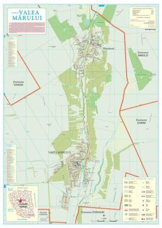 Harta Comunei Valea Mărului GL - șipci de lemn