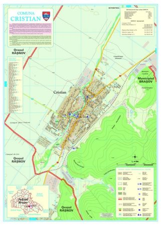Harta Comunei Cristian BV - sipci de lemn