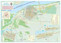 Harta Municipiului Calafat DJ (print digital) - sipci de lemn