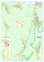 Harta Comunei Falciu VS - șipci de lemn
