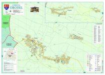 Harta Comunei Orodel DJ - sipci de lemn