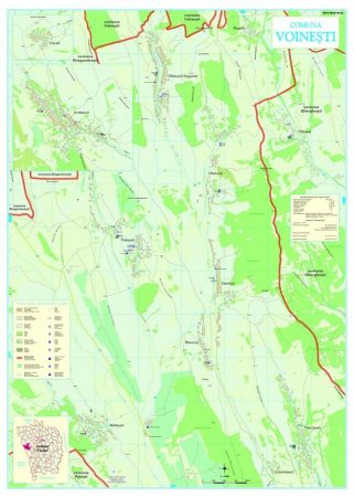 Harta Comunei Voinești VS - sipci de lemn
