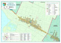 Harta Comunei Suhaia TR - șipci de lemn