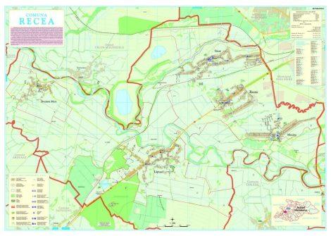 Harta Comunei Recea MM - șipci de lemn