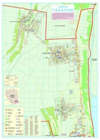 Harta Comunei Vânători GL - șipci de lemn
