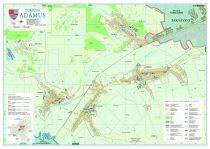 Harta Comunei Adamus MS - sipci de lemn
