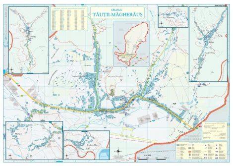 Harta Orasului Tautii Magheraus MM - sipci de lemn