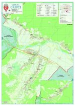 Harta Comunei Căiuți BC - șipci de lemn