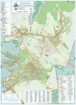 Harta Municipiului Suceava SV - șipci de lemn