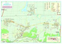 Harta Comunei Perieți IL - șipci de lemn