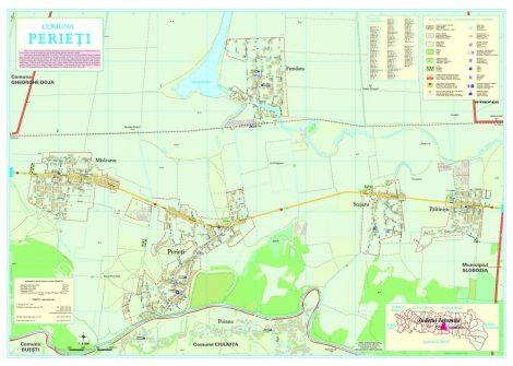 Harta Comunei Perieti IL - sipci de lemn