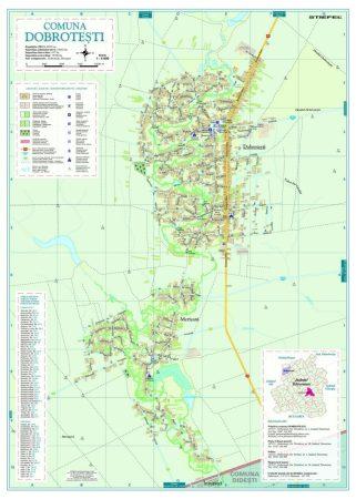 Harta Comunei Dobrotești TR - sipci de lemn