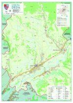 Harta Comunei Deda MS - șipci de lemn