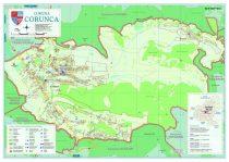 Harta Comunei Corunca MS - sipci de lemn