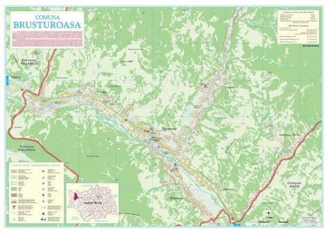 Harta Comunei Brusturoasa BC - șipci de lemn