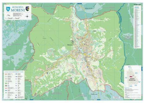 Harta Municipiului Moreni DB - șipci de lemn