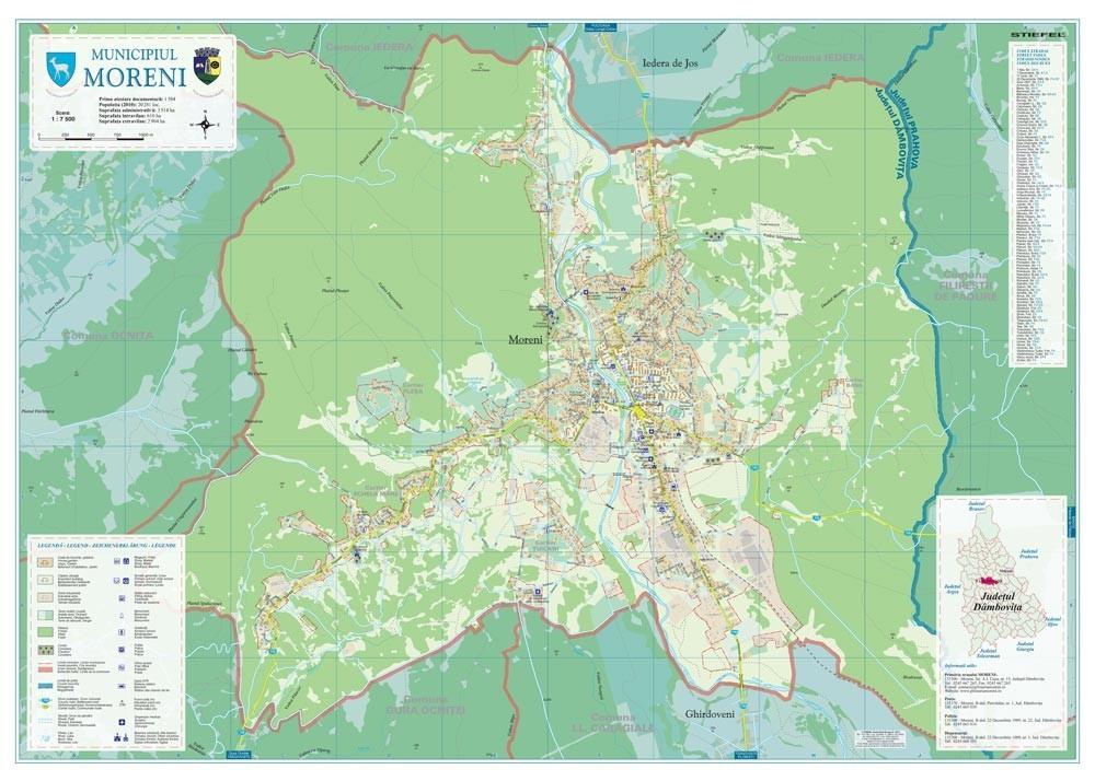 Harta Municipiului Moreni Db Print Digital Sipci De Lemn