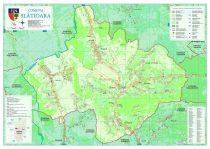 Harta Comunei Slatioara VL - sipci de lemn