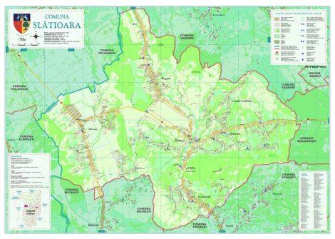 Harta Comunei Slătioara VL - șipci de lemn