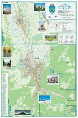 Harta Orașului  Cugir AB - șipci de lemn
