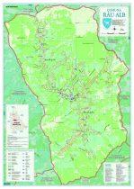 Harta Comunei  - Rau Alb DB sipci de lemn