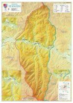 Harta Comunei Stânceni MS - șipci de lemn