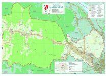 Harta Comunei  Mărgineni BC șipci de lemn