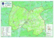 Harta Comunei  - Pietrari DB - extravilan șipci de lemn
