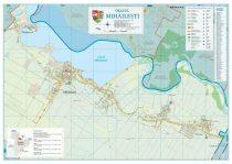 Harta Orasului  Mihailesti GR - sipci de lemn
