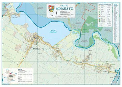Harta Orașului  Mihăilești GR - șipci de lemn