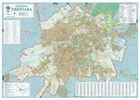 Harta Municipiului Timisoara TM (print digital) - sipci de lemn