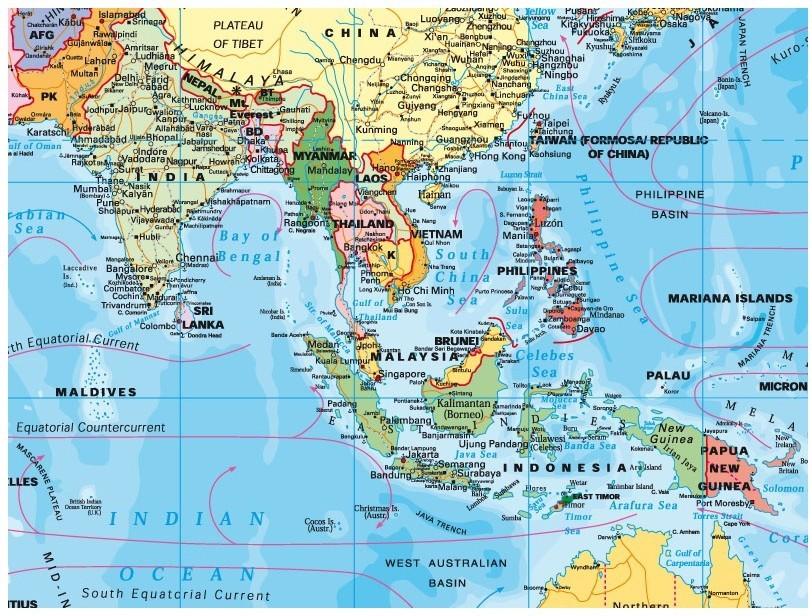 Harta Asia Politica Sipci Metal Stiefel Romania
