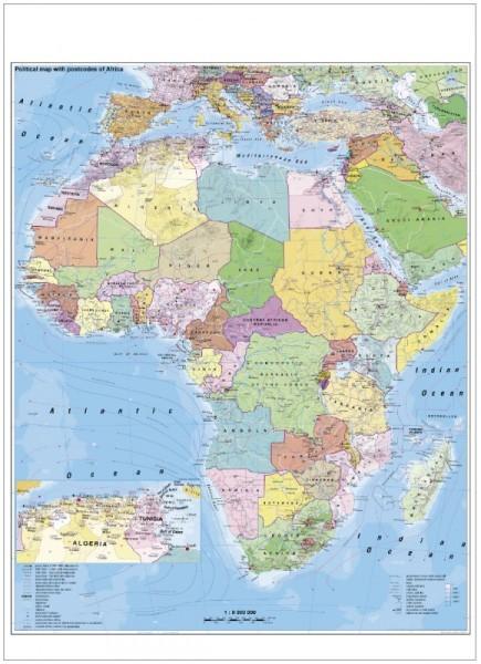 Harta Africa Administrativa Stiefel Romania