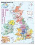Harta Marea Britanie coduri postale 100 x 140 cm