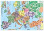 Harta Europa coduri postale 122x88 cm sipci plastic
