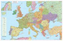 Hartă de perete Europa Rutieră 140x100 cm