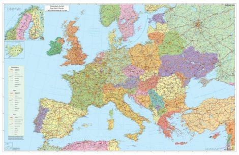 Hartă de perete Europa Rutieră