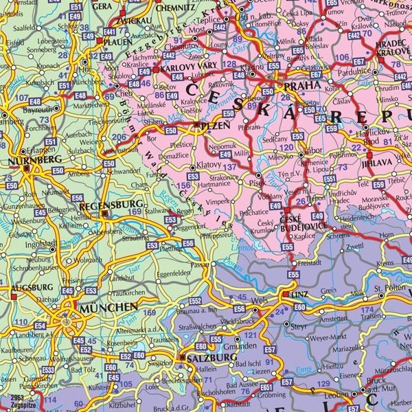 Harta Harta Europei Rutiera