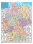 Harta Germania coduri postale - sipci de lemn