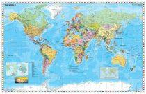 Hartă de perete Statele Lumii cu steaguri  140x100 cm