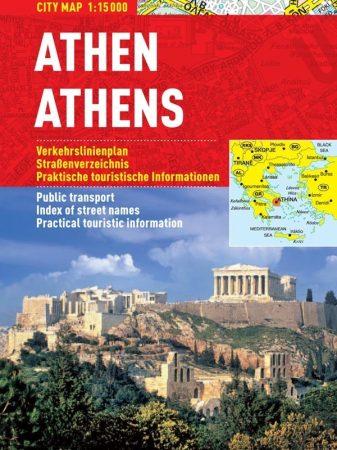 Atena - hartă turistică pliabilă