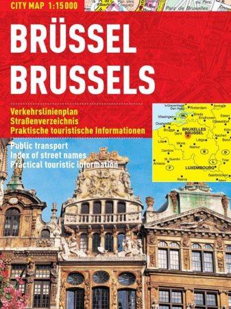 Bruxelle -hartă turistică pliabilă