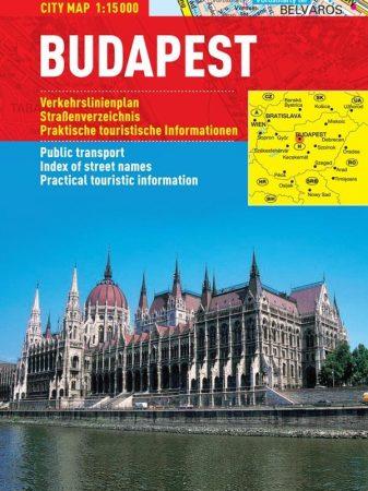 Budapesta - harta turistica pliabila