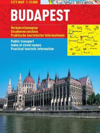 Budapesta - hartă turistică pliabilă