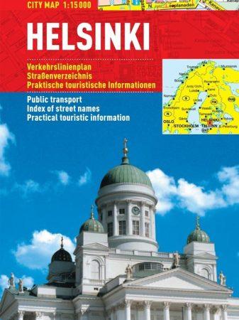 Helsinki - harta turistica pliabila