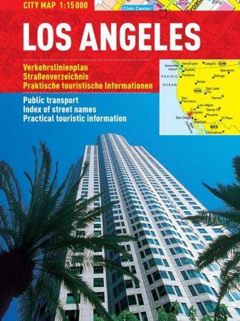 Los Angeles - harta turistica pliabila