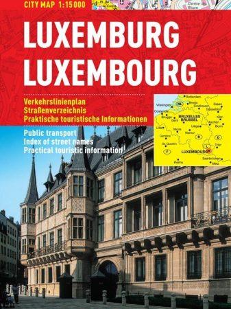 Luxemburg - harta turistica pliabila