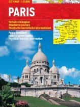 Paris -hartă turistică pliabilă