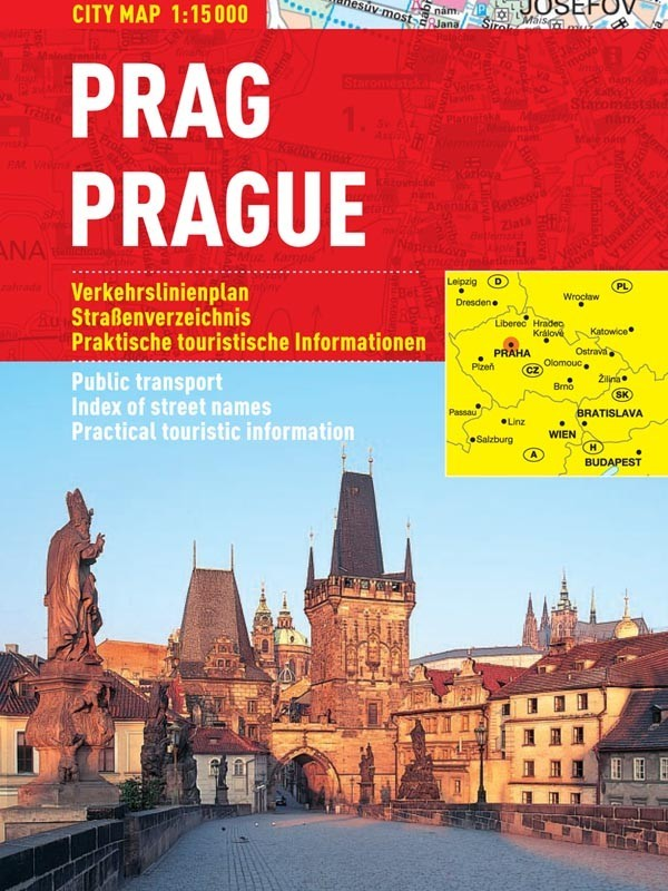 Praga Harta Turistica Pliabila Stiefel Romania