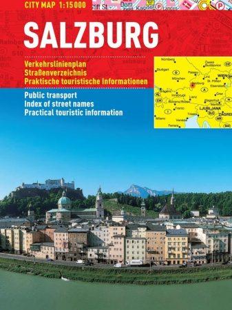 Salzburg - hartă turistică pliabilă